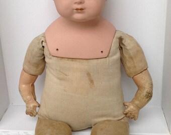Antique Baby Doll 1916-1922 - Georgian Antique Doll - Rare Original Doll - Bisque Head Doll - Bisque Face Antique Doll