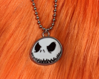 JACK SKELLINGTON ball chain necklace
