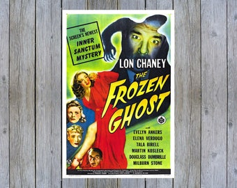 1945 The Frozen Ghost vintage horror movie poster print
