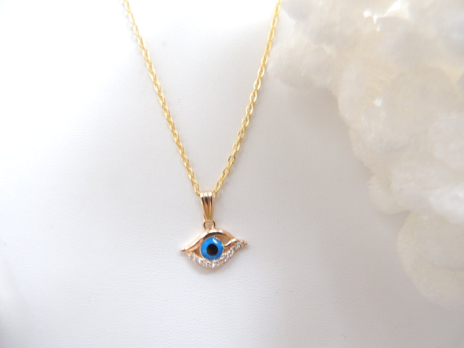 Evil eye necklace all seeing eye necklace pendant necklace zoom mozeypictures Gallery