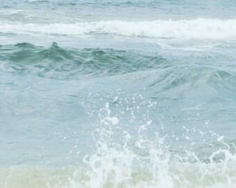 Ocean Photograph, Beach, Coastal Shore, Aqua Blue Sea Green Print, Ocean Waves, Salt Water for your Soul Photograph 8x10 and up