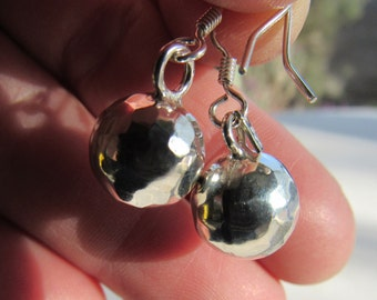 Hand Made Taxco Silver Earrings