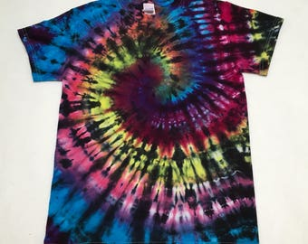 Hand Tie Dyed Adult S Ready to Ship Hippie Retro Small T-Shirt #01161