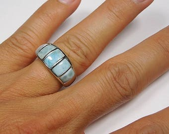 Larimar men ring Etsy