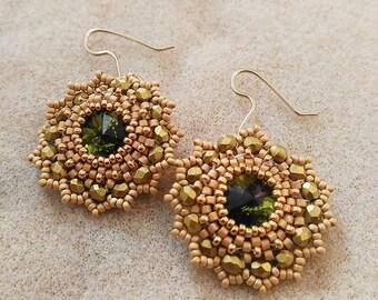 Gift for her. Dangle earrings. Womens earrings. Beaded earrings. Handmade jewelry. Mum gift. Gift for wife