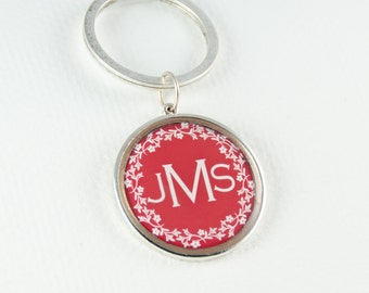 Monogram Keychain| Personalized Chain | Name Keychain | Custom Keychain