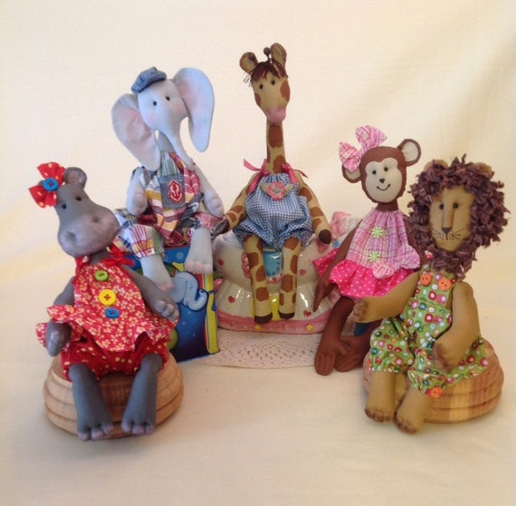 Mailed Cloth Doll Patterns Special Collection Baby Animal patterns