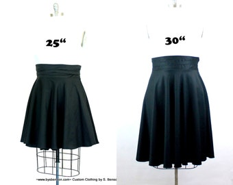 "Plus Size High Waist Wrap Skirt ( 2 - 24 ) Choose your length  25"" L or 30""L"