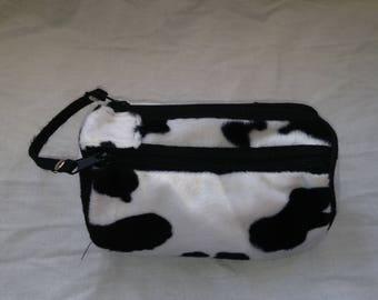 lil cow pattern make up pouch