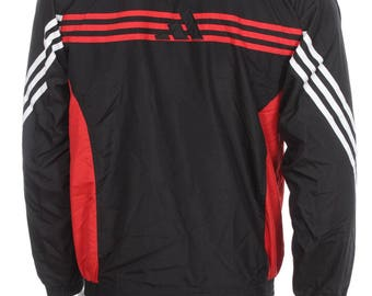 Vintage Adidas Windbreaker Tracksuit top jacket Red/White/Black Size S