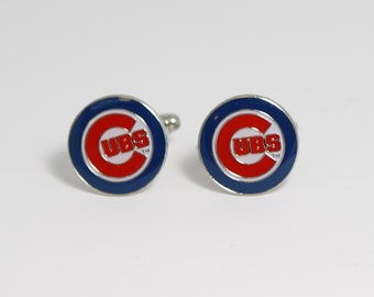 Chicago Cubs Cuff Links -- FREE SHIPPING with USPS First Class Domestic Mail