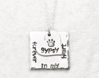 Personalized | Pet Memorial Jewelry | Dog Memorial Jewelry | Pet Loss | Gift | Dog | Cat | Rainbow Bridge | In Memory of | Pet | Necklace