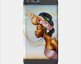 Cancer iPhone Case African American Goddess Black Girl Magic Afrofuturism by Sheeba Maya