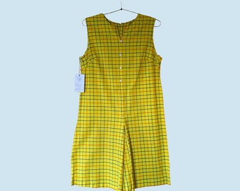 1960s Yellow Shift Dress Size M