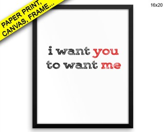 I Want You Canvas Art I Want You Printed I Want You Love Art I Want You Love Print I Want You Framed Art I Want You Printed Poster I desire