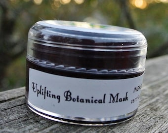Uplifting Botanical Mask (scrub style with clay) Organic and Vegan and 1 dollar donation - Vesper Beauty