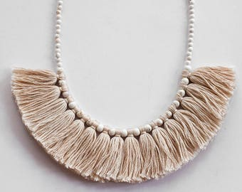 Tassel Necklace, Madi Jane Tassel Necklace, Statement Necklace, Handmade Jewellery Handmade Jewelry, Necklace, Boho Necklace, Boho Jewellery