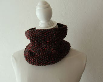 Mélange Cowl green / red
