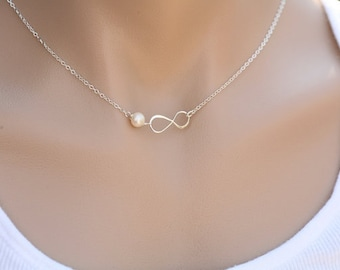 Infinity Necklace,friendship to infinity,Message card,infinity and gemstone,bridesmaid gifts,sisterhood,Friendship gift,Bridesmaid gifts
