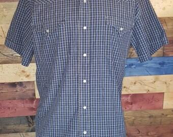 Men's COORS BEER Vintage M-L Tall <> Denim Western Pearl Snap Shirt <> Beaver Creek RODEO <> Cowboy 9FNLx