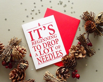 Funny Holiday Card, Funny Christmas Card, Holiday Cards, Funny Christmas, Red Christmas Card, Christmas Tree Card, Funny Christmas Tree