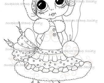 INSTANT DOWMLOAD Digital Digi Stamps Big Eye Big Head Dolls Digi  My Besties IMG837 By Sherri Baldy