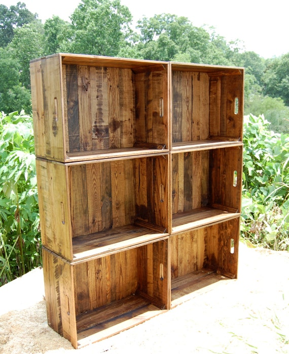 wooden crate wall unit bookcase storage extra large crate. Black Bedroom Furniture Sets. Home Design Ideas