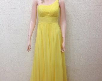 Yellow Prom Dress. Long Bridesmaid Dress. Floor Length Dress