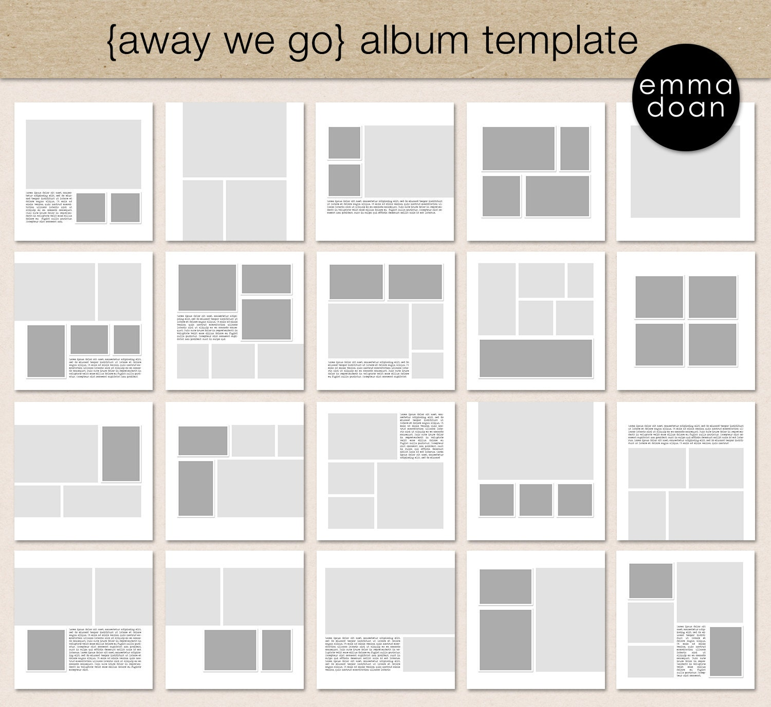 away we go album template 12x12 travel album 12x12 photobook template digital scrapbook. Black Bedroom Furniture Sets. Home Design Ideas