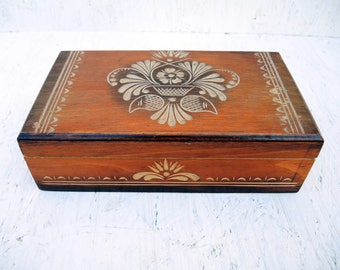 Big Engraved Wooden Box - Handmade Carved Box - Ukrainian box
