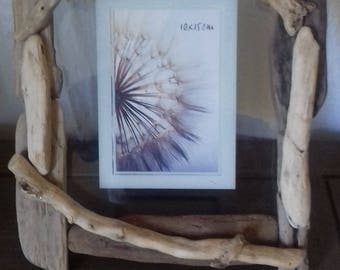 Natural Driftwood picture frame, handmade.