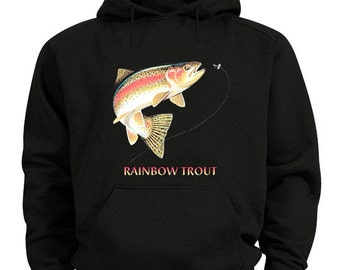 Rainbow trout sweatshirt hoodie fishing shirt