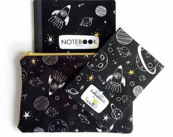 Space Kit-case + notebook + pencil and Postcard