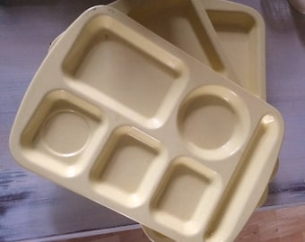 Vintage School Cafeteria Lunch Trays