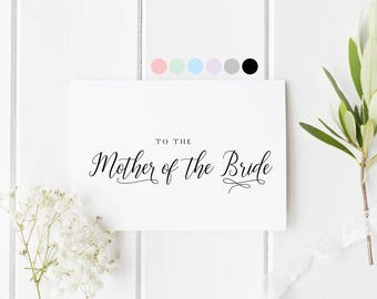 Mother Of The Bride Card, To The Mother Of The Bride, To My Mom On My Wedding Day, Mum In Law Card, Card For Mother In Law, Mom Wedding Day