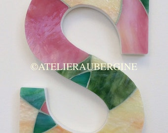 Letter S # 9 stained glass mosaic
