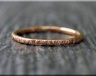 14k Rose Gold Filled Twig Ring, Bark Texture Ring, Gold Stacking Ring, Gold Filled Stackable Ring, Woodland Ring, Nature Inspired Ring