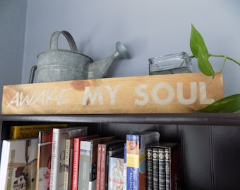 Distressed Wooden Signs - Shelf Sitter, Inspirational Decor, Rustic Home Decor,Hand Painted Sign, Home Accents