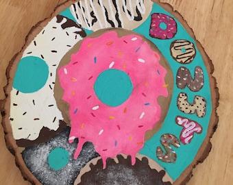 Donuts Wooden Plaque