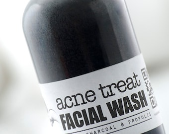 ACNE TREAT Facial Wash • Activated Charcoal, Anti Acne, Propolis, Herbal Acne Treatment, Organic Facial wash, Acne cleanser, Acne face wash