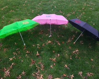Monogrammed Embroidered Umbrellas
