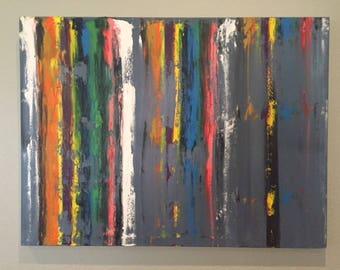 vertical stripes-original oil painting