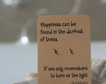 Harry Potter Dumbledore quote earrings - Potter Gift - Silver