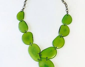 Luna necklace, hand-made with Vegetable Ivory