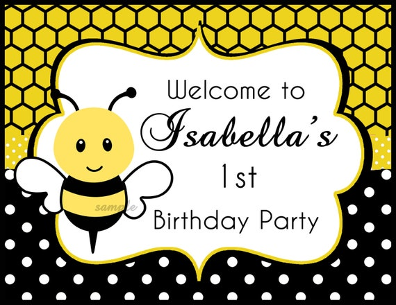 Bumble Bee Birthday Or Baby Shower Invitation Printable Printed With FREE SHIPPING