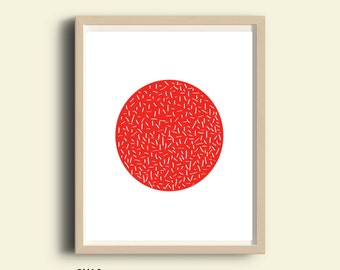 Abstract art, printable abstract wall art, red wall print, printable living room decor, wall art, minimalist, instant download printable art
