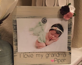 Christmas Gift for Grandma I love my grandma picture frame - Grandma gift - personalized 4 x 6 frame for grandma gift for grandma