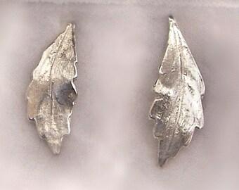 Argentium silver leafs