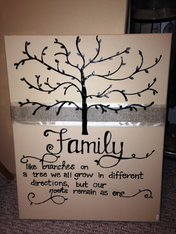 We Create Family Trees Personalized Tree Painting