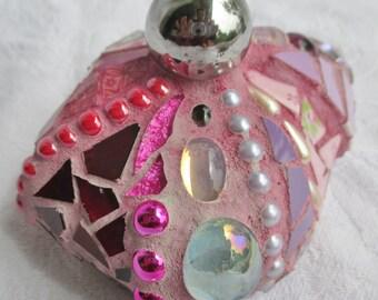 Large Pink Mosaic Stone, Good Luck Stone